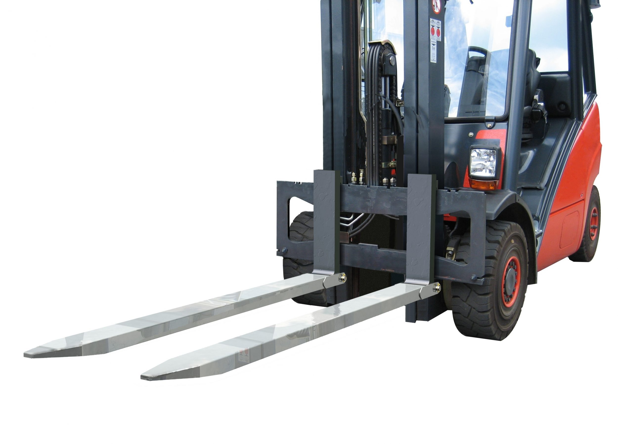 Fork Lift Extensions : Manual slide on fork extensions meijer handling solutions