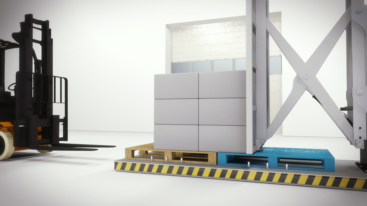 Stationary Load Inverter Pallet Inverter Bulle Pallet: Stationary Pallet Changer Eliminates The Risk Of Spillage