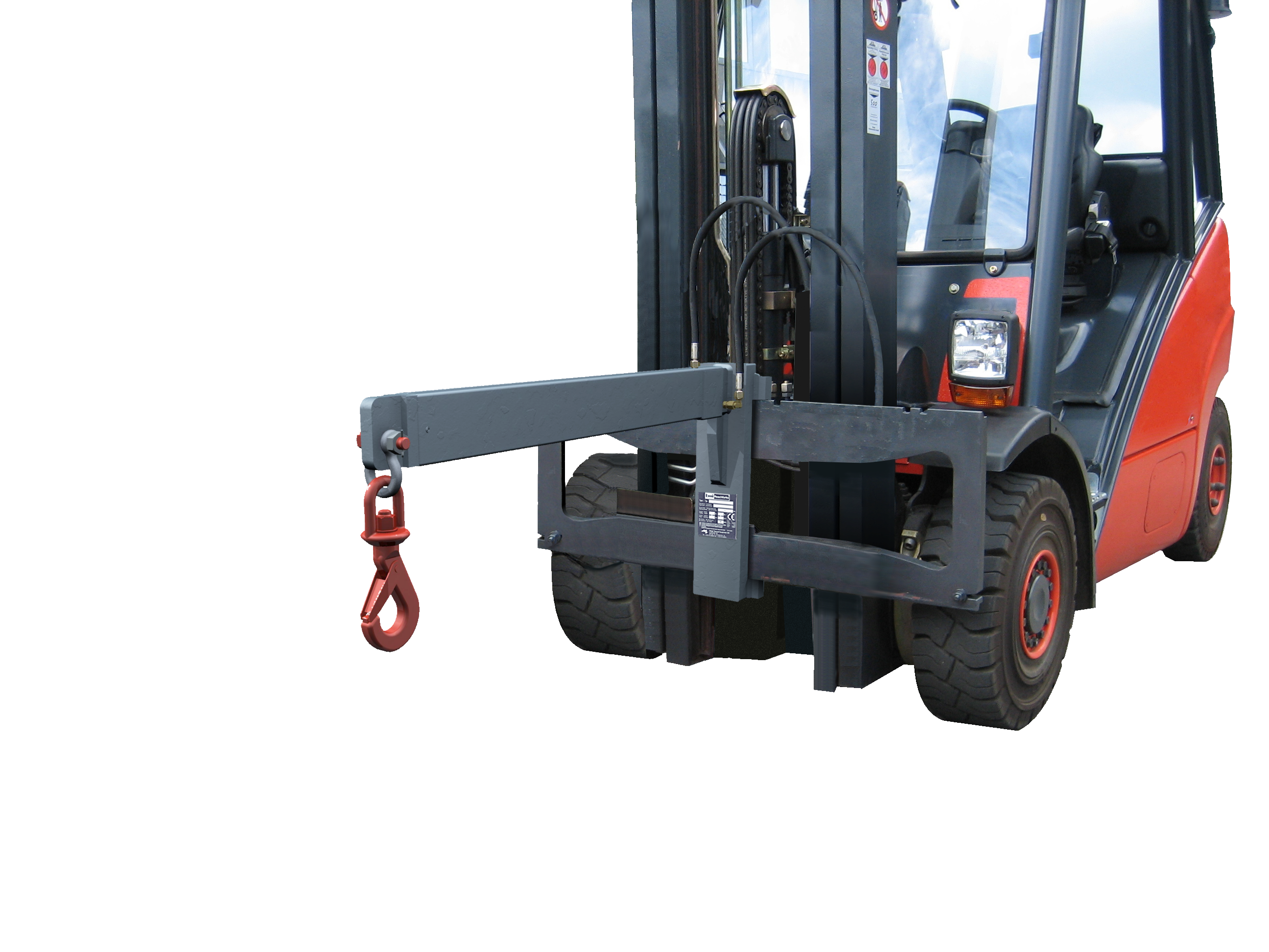 Lifttruck with crane